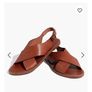 Madewell boardwalk brown sandals